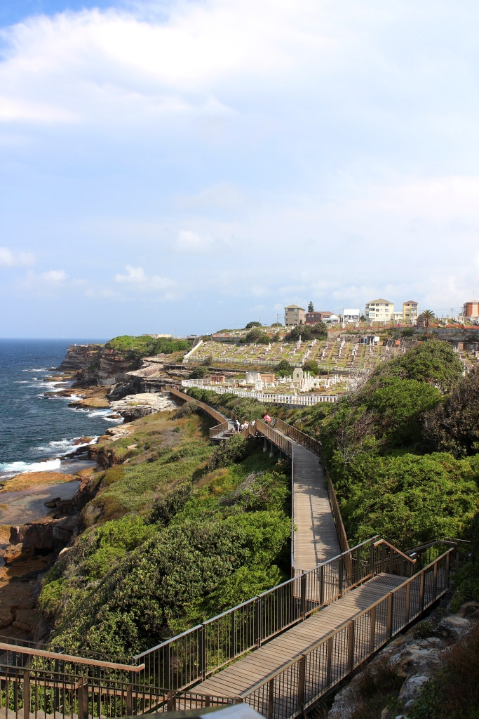 Waverely Cemetery takes many visitors by surprise as they round the corner on Sydney's Bondi to Coogee walk (Photo by: Samantha Lego).